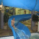 waterslide/pool area