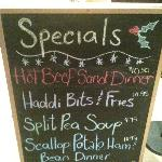Specials of the day