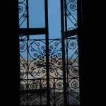 this is the view from MY BED! I just love the wrought iron!