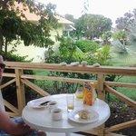 uitzicht met eigen ontbijtje