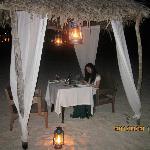 浪漫的沙滩晚餐