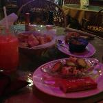Ceviche, chips, guac & pico, frozen drinks