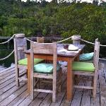 Benz restaurant, terrace with view on the Mangrove