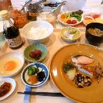 卵かけご飯が大人気!朝食盛付例 和食編
