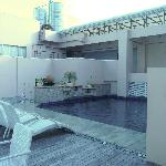 Diamond Suites rooftop pool and terrace