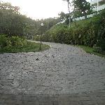 au village route vers l hotel