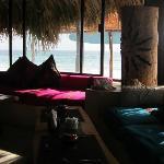 Vue de la plage depuis le restaurant