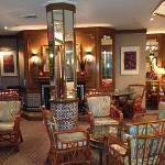 the lounged to enjoy breakfast & wine & cheese evenings