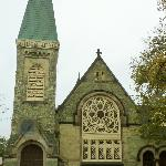 The Green Stone Church rented out to denominations by the Pullman Land Company