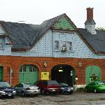 The Pullman Stable with horseheads next to the main door