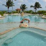Beachside hot tub/pool
