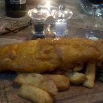 Excellent haddock lunch