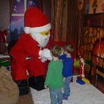 Metting Santa was fun