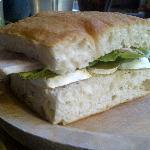 Ham & Somerset Brie sandwich