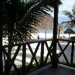 Ausblick von der Bungalow zum Strand