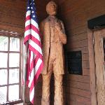 Hand-carved Lincoln statue