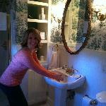 Loved the quaint bathroom attached to our room.