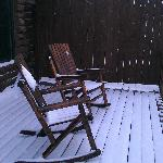 Snow Covered Deck Chairs