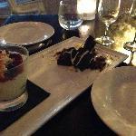 Tasting menu dessert. Hmmmm....