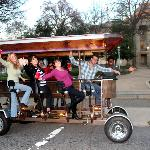 Trolley Pub in front of the state capital building