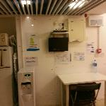 free to use fridge, entertainement, microwave and water dispenser