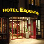 Main entrance to Hotel Exquisit