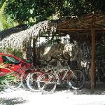 il parcheggio con le biciclette offerte dal Be Tulum...
