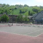 Tennis courts overlooking Ski hill and building #4