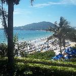 Vista de la playa de Bombinhas