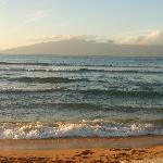 View of Molokai from the beach front