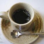 朝食後のコーヒー、スプーンが桜!