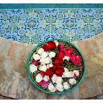 A delicadeza de ser recebido com flores