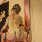 Expo peinture .... Dans le restaurant !!!