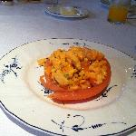 Breakfast (Smoked salmon and scrambled eggs) sublime
