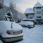 Hotel dopo una nevicata