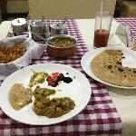 my first meal in Puttaparthi's Om hotel