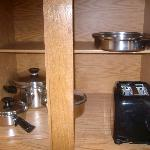 Brand new cookware in Sonesta suites