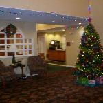 Christmas decorations in Front Lobby at Sonesta ES Suites