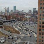16 Etage ausblick auf Boston