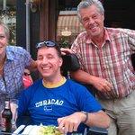 Oscar, Yvonne en ik (Martijn) tijdens ons etentje bij Zaras