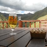 Maluti beer on the main lodge deck