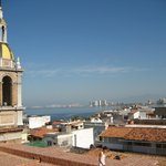 On the roof of Guadalupe- Amazing 180 panoramic views of the city and Banderas Bay.