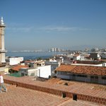 On the roof of Guadalupe. Amazing 180 panoramic views of the city and Banderas Bay