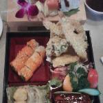 Lunch Bento Box and Sashimi plate