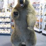 This bear greets you at the door