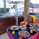 Riu Palace Las Americas-barbecue on the pool