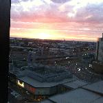 The gorgeous sunset from our room floor 13 room 07