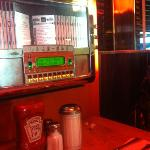 own jukebox in booth amazing food and service