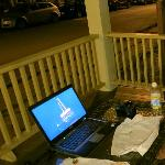 Wifi works out on the porch - see quiet adjacent street also.