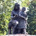 Child Warrier Shivaji with his  mother  Jijamata